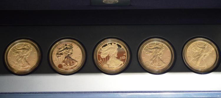 2011 American Silver American Eagle 5-Coin PF Set