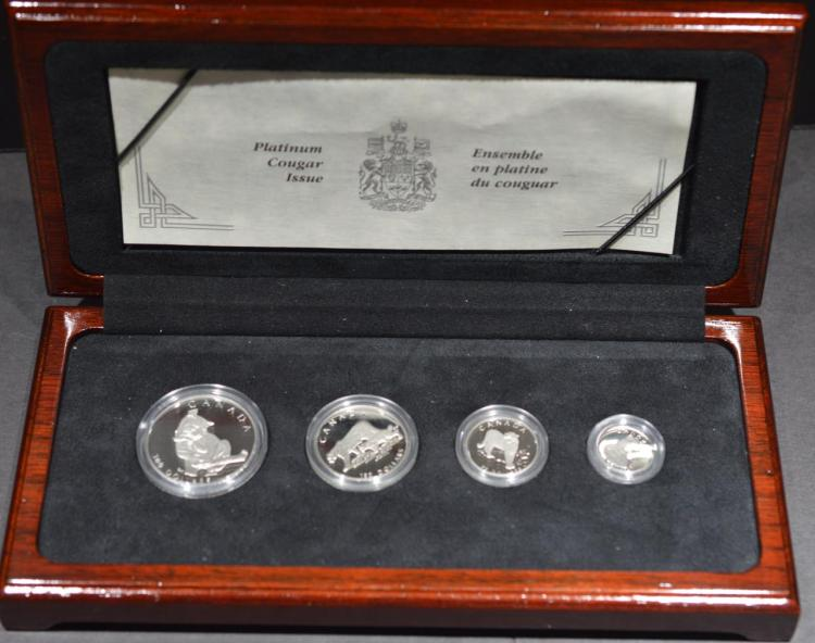 1992 Canada Platinum Cougar 4-Coin Proof Set