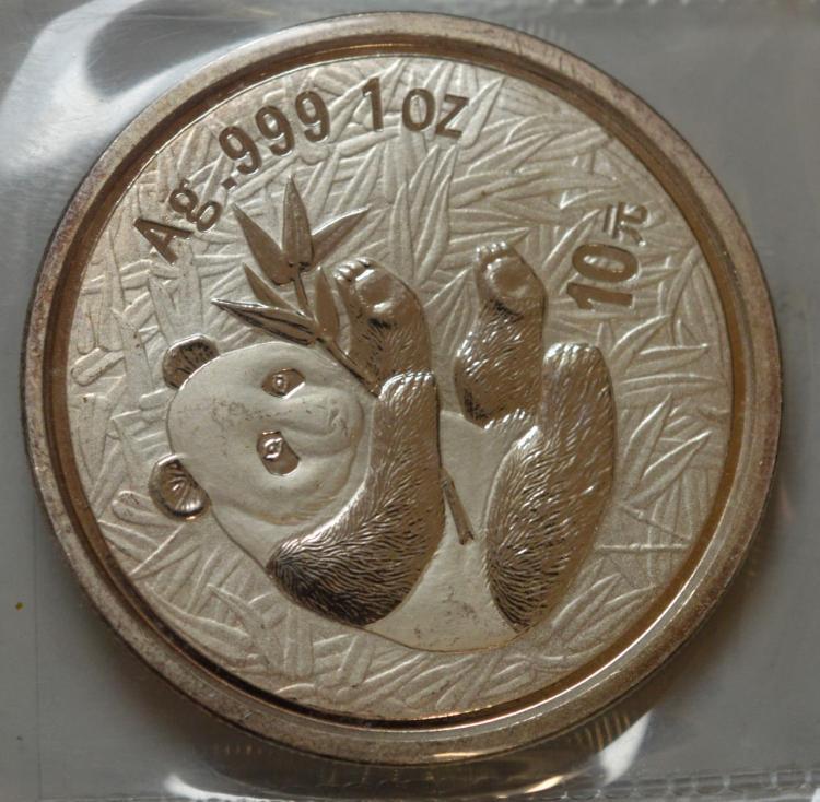 2000 China 10Y 1 oz. .999 Silver Panda BU