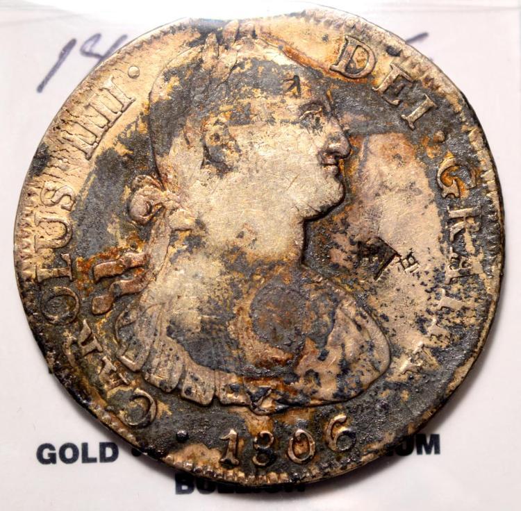 1806MO TH Mexico Charles IIII 8R VF Chopmarks