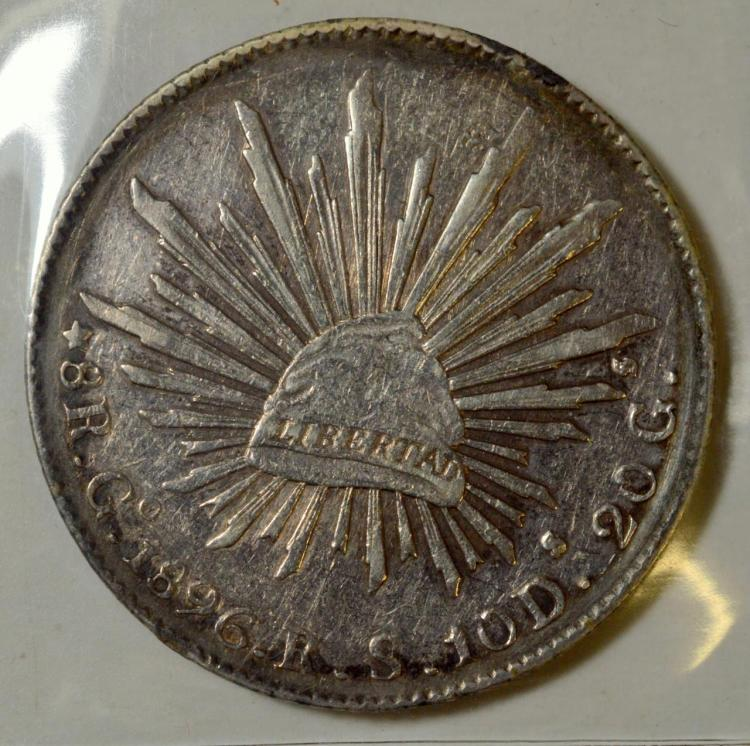 1896Go RS Mexico Silver 8 Reales