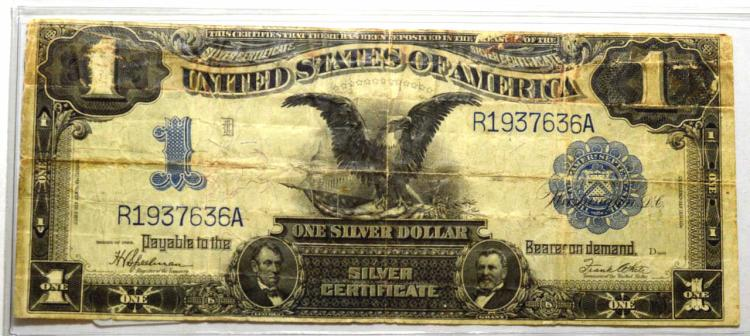 1899 $1 Black Eagle Silver Certificate Lg. Note VG