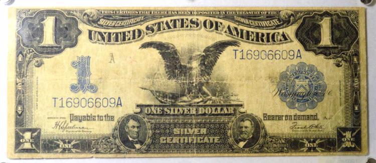 1899 $1 Black Eagle Silver Certif. Large Note Fine