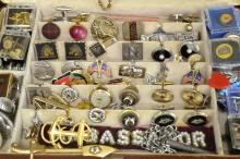 Lot of Masonic, Shriner & Ass't Jewelry