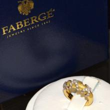 18kyg Faberge Diamond ring