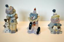 Three Lladro Figures, Clowns