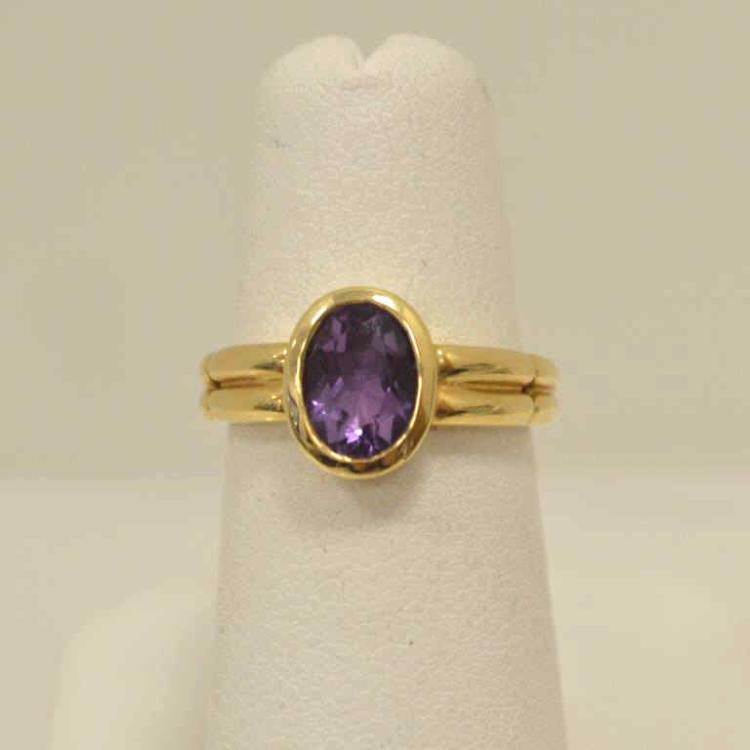 14kt yellow gold amethyst fashion ring for Gulf coast coin and jewelry
