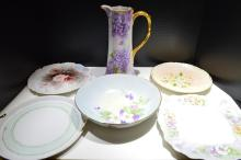 Six Hand Painted Porcelain Items By Sarah B. Smith