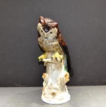 Antique Dresden Horned Owl by Carl Thieme