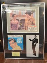 Bobby Darin Framed Cut Signature