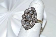 14kwg Diamond Fashion Ring