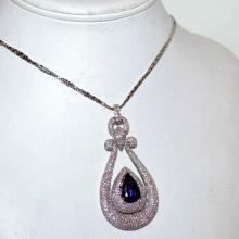 14kwg M. Christoff Tanzanite & Diamond Necklace