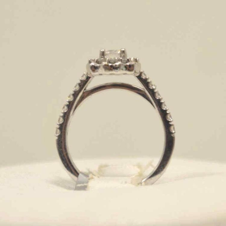 14kt white gold diamonds engagement ring for Gulf coast coin and jewelry
