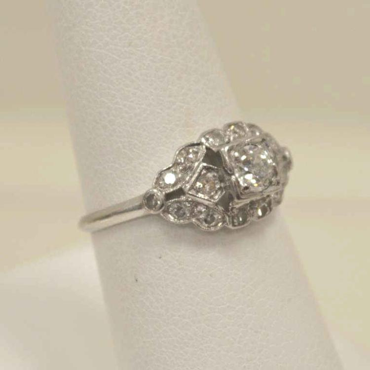 Lady 39 s vintage platinum diamond ring for Gulf coast coin and jewelry