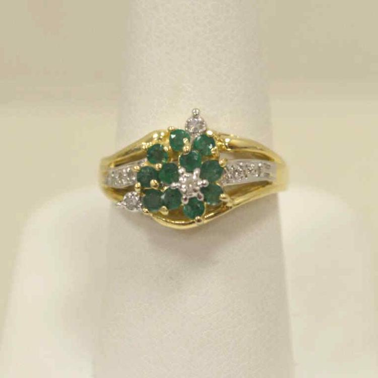 Lady 39 s emerald and diamond ring for Gulf coast coin and jewelry