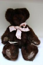Brown Mink Teddy Bear - Hand Stitched by Bernie