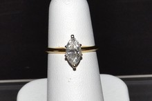 1.05ct Marquise Diamond Solitaire I1/I