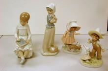 2 Nao Figurines & 2 Lefton Figurines