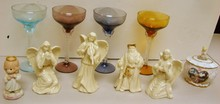 4 Christmas Lenox Figurines, Music Box ++