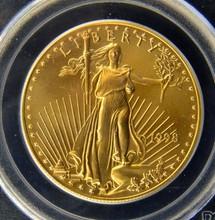 1998 $50 Gold American Eagle PCGS Gem UNC WTC GZR