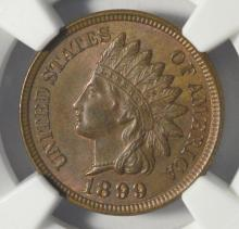 1899 Indian Head Cent NGC MS 62 BN