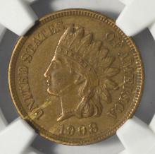 1908-S Indian Head Cent NGC AU Details I/C