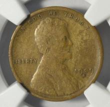 1909-S Lincoln Cent NGC F 12 BN