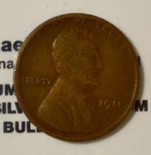 1911-D Lincoln Cent VF