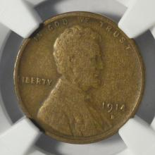 1914-D Lincoln Cent NGC VG 10 BN