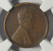 1916-S Lincoln cent NGC XF Details E/D