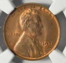 1931-S Lincoln Cent NGC MS 63 RB