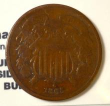 1865 Two-Cent Piece Fine