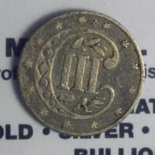 1862 Silver Three Cent Piece Good