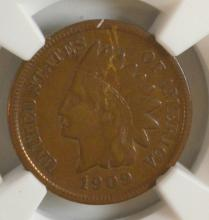 1909-S Indian Head Cent NGC VF Details I/C