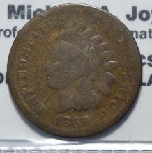 1866 Indian Head Cent Good-