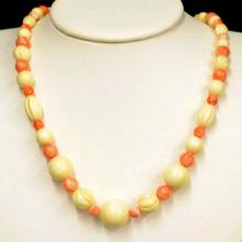 Ivory & Pink Coral Necklace