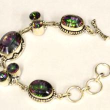 Sterling Mystic Topaz Bracelet