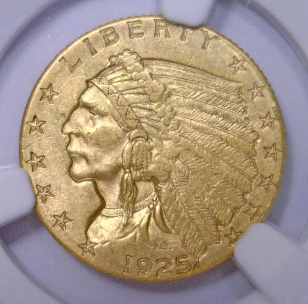 1925-D $2.5 Indian Quarter Eagle XF NGC Genuine