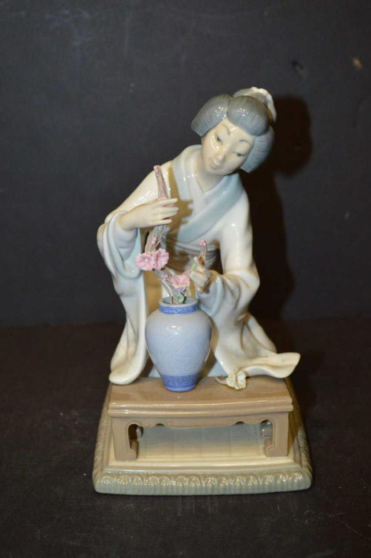 Lladro 4840 japanese girl decorating - Consider including lladro porcelain figurines home decoration ...
