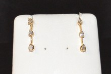 14kyg 3 Diamond Earrings
