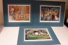 3 Signed Don Whitlatch Prints - Williamsburg VA.