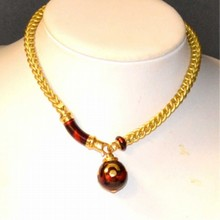 18kyg & Enamel Soho Necklace & Bracelet