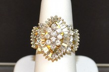 Diamond Ballerina Ring 10kyg