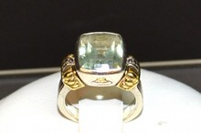 Sterling & 18k Lagos Peridot Ring
