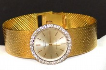Lady's 18kyg Patek Philippe Diamond Watch