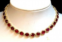 14kyg Ruby & Diamond Necklace