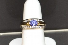 14k 2tone Tanzanite & Diamond Ring