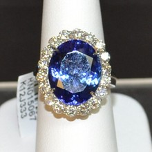 14kyg Tanzanite & Diamond Ring 11ct GIA