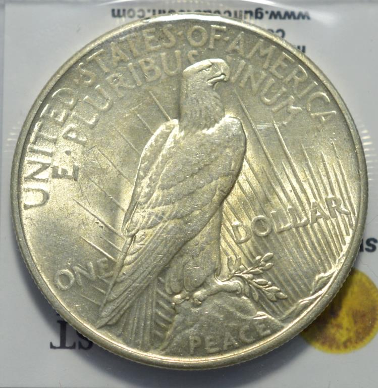 1935 peace silver dollar bu for Gulf coast coin and jewelry