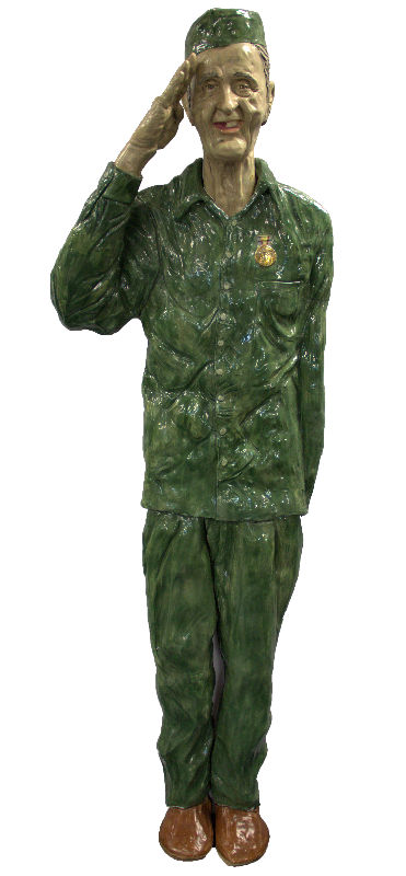 Lundin Kudo (AMERICAN/FLORIDA, 1947 - 2006) ceramic sculpture
